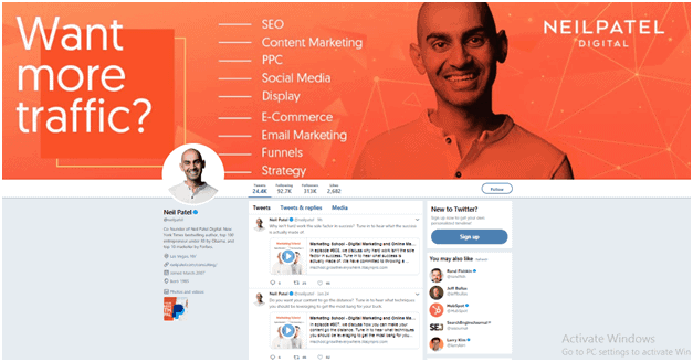 Comment devenir un influenceur sur Twitter de Neil Patel